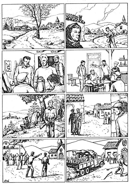 Historieta tomada del libro La Guerra Psicológica
