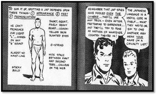 Algunas páginas de la historieta How To Spot a Jap