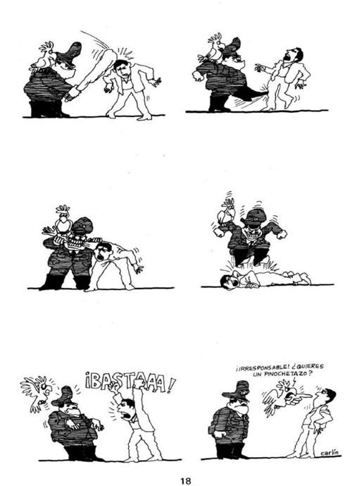 Carlos Tobar (1982). Hace alusión al nivel de violencia desatada por la dictadura militar en el Perú
