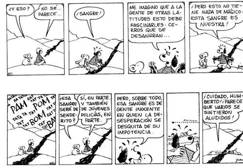 <em>El Cuy</em> (Juan Acevedo, 1979), esta tira corresponde a 1982